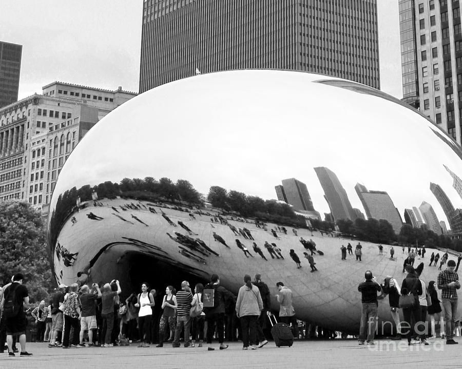 Cloud Gate Photograph - Cloud Gate Chicago Bw 4 by Cheryl Del Toro