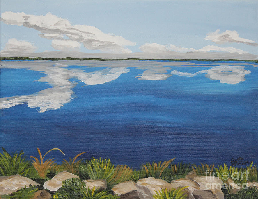 Lakes Painting - Cloud Lake by Annette M Stevenson