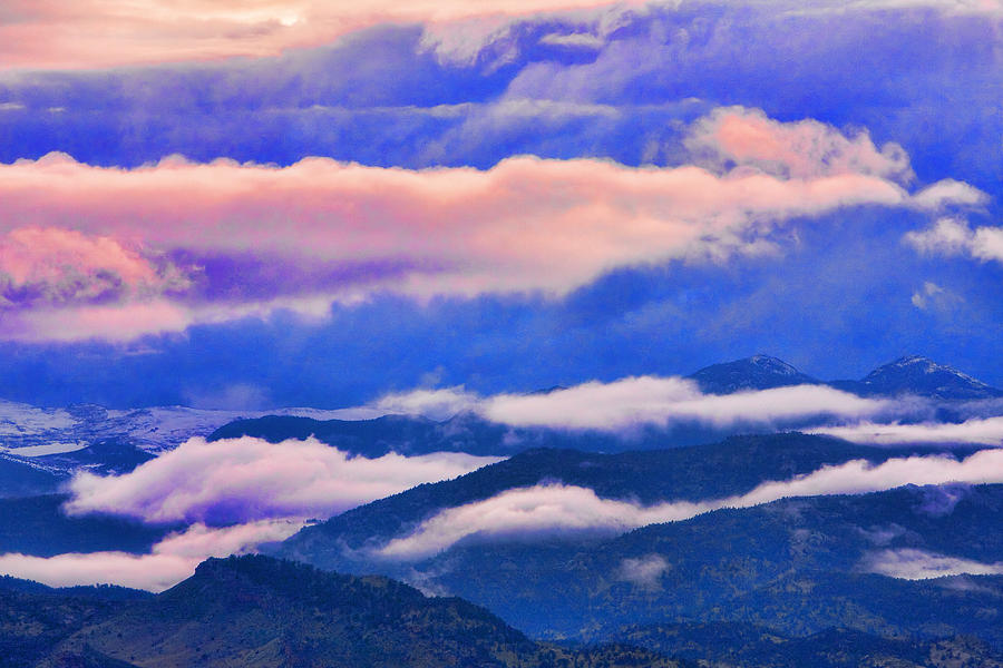 Cloud Layers At Sunset Photograph by James BO  Insogna
