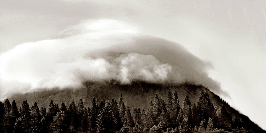 Grants Pass Photograph - Cloud Mountain by Joe Hoover