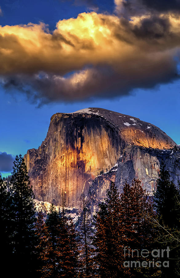 Cloud Over Half Dome by Paul Gillham