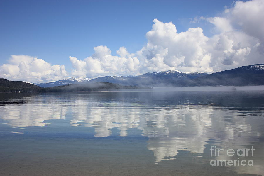 Clouds Photograph - Cloud Reflection On Priest Lake by Carol Groenen