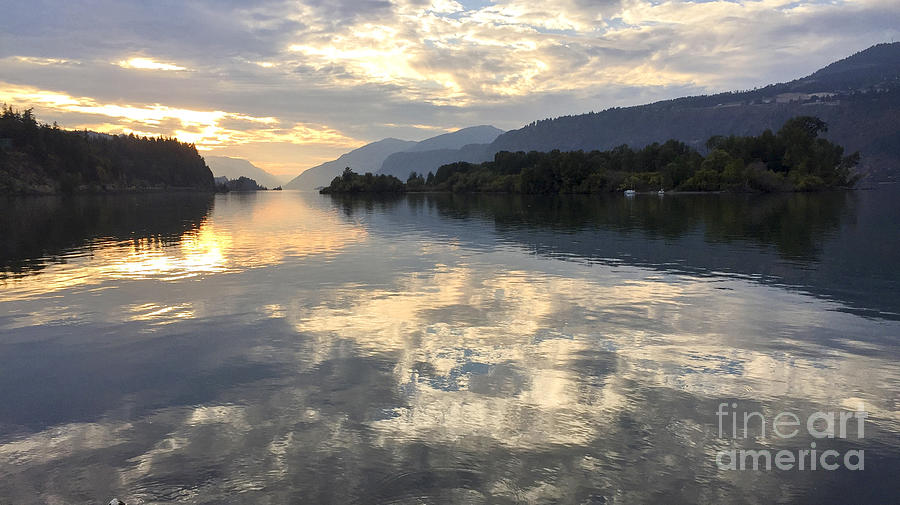 Hood River Photograph - Cloud Reflections in Hood River by Charlene Mitchell