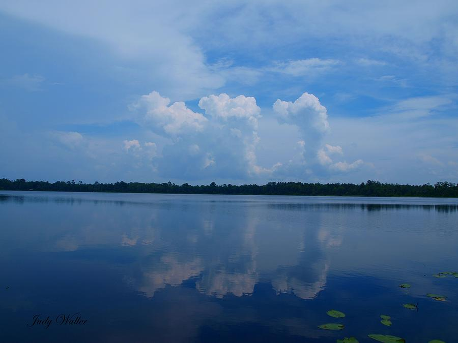 Reflections Photograph - Cloud Reflections by Judy  Waller