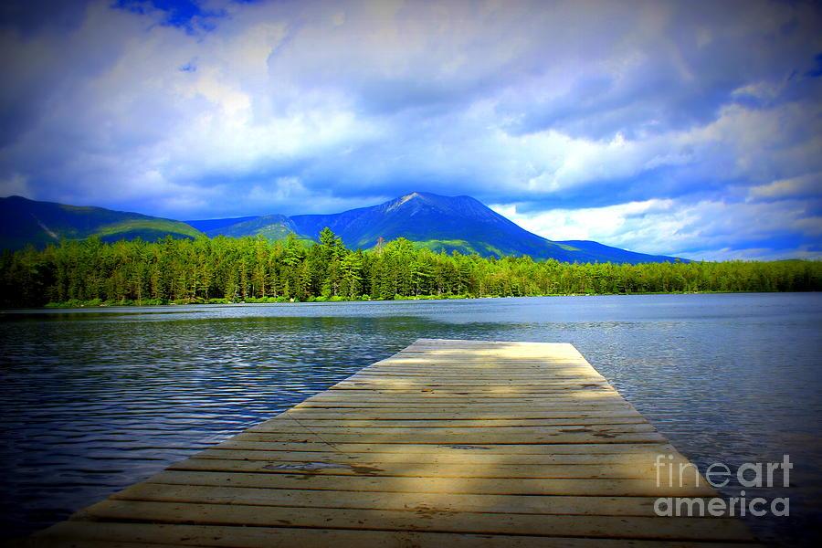 Mount Katahdin Photograph - Cloud Shadows by Hanni Stoklosa