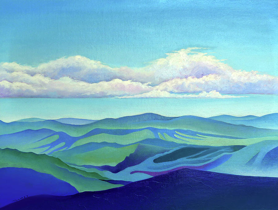 Cloud Shadows Oceans of Mountains by Catherine Twomey