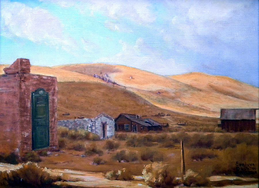 West Painting - Cloud Shadows Over Bodie California by Evelyne Boynton Grierson