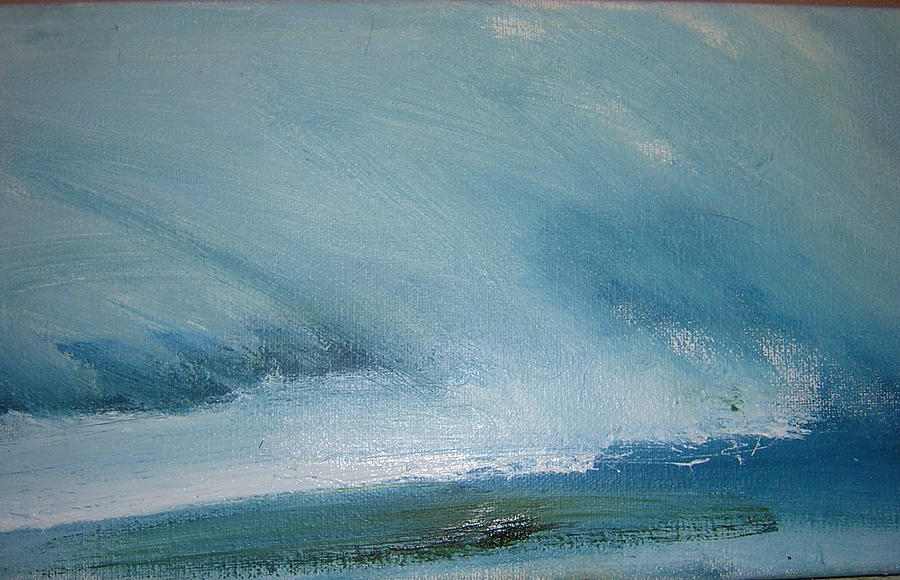 Landscape Painting - Cloud Study by Judy  Blundell