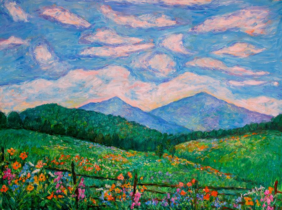 Kendall Kessler Painting - Cloud Swirl Over The Peaks Of Otter by Kendall Kessler