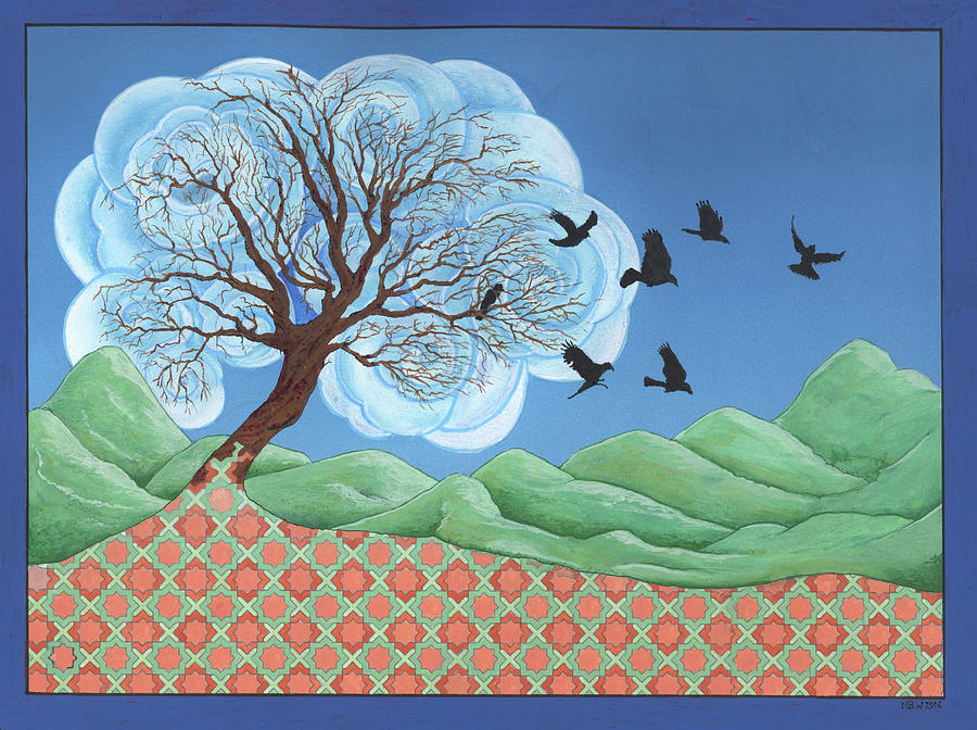 Shaman Painting - Cloud Tree 1 by Nicholas Breeze Wood
