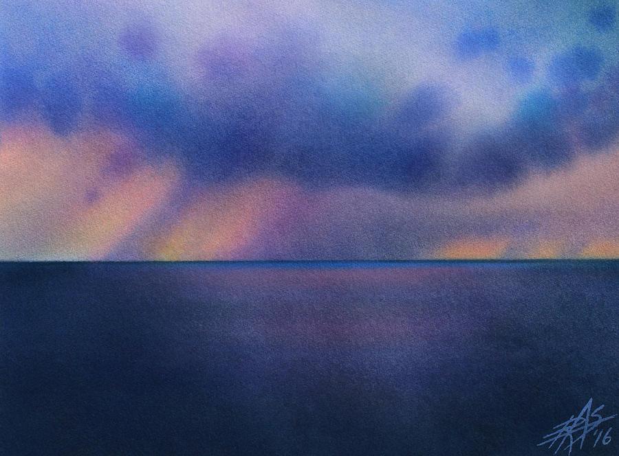 Landscape Painting - Cloudburst At Sea by Robin Street-Morris