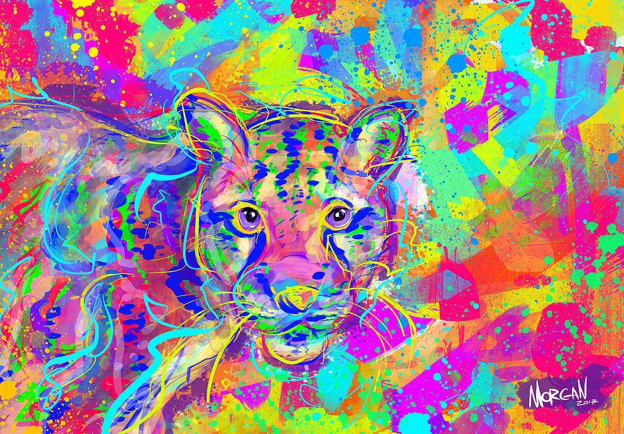 Ocean Digital Art - Clouded Leopard  by Morgan Richardson