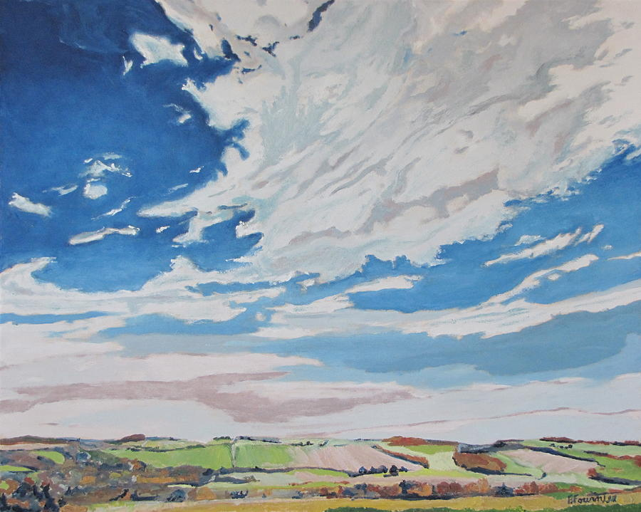 Cloud Painting - Clouded Sky On The Valley by Francois Fournier