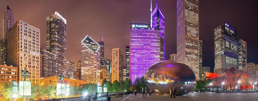 Cloudgate Night Panorama Photograph
