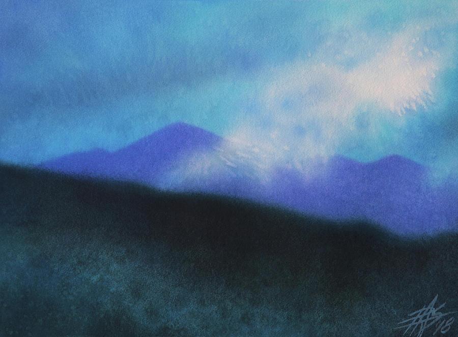 Landscape Painting - Cloudline III by Robin Street-Morris
