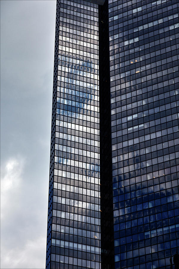 Clouds Photograph - Clouds And Office Building Midtown  by Robert Ullmann