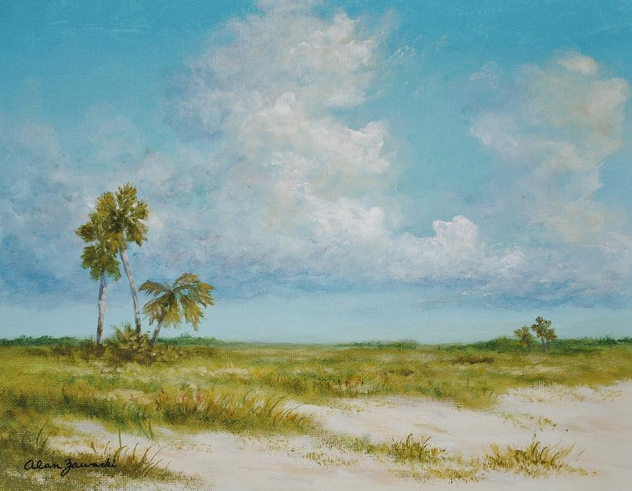 Clouds and Palms by Alan Zawacki by Alan Zawacki