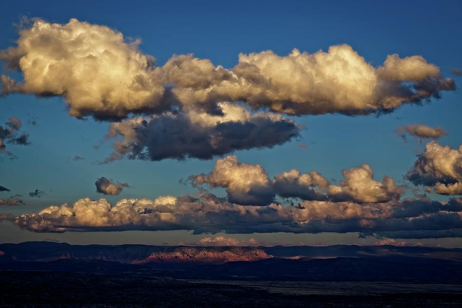 Clouds and Red Rocks HDR by Ron Chilston