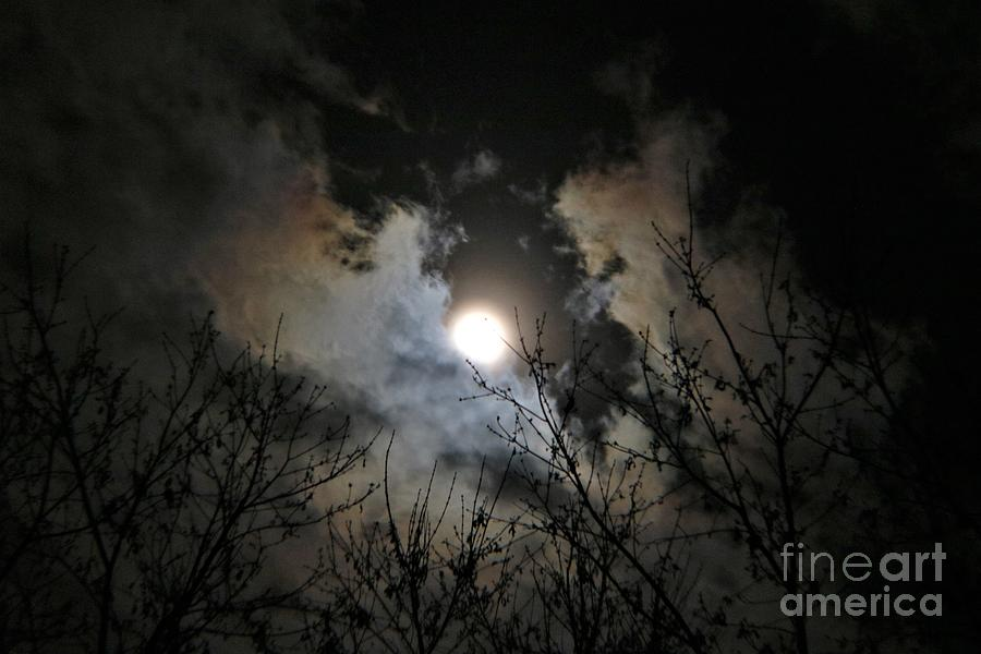 Clouds And The Moon Photograph