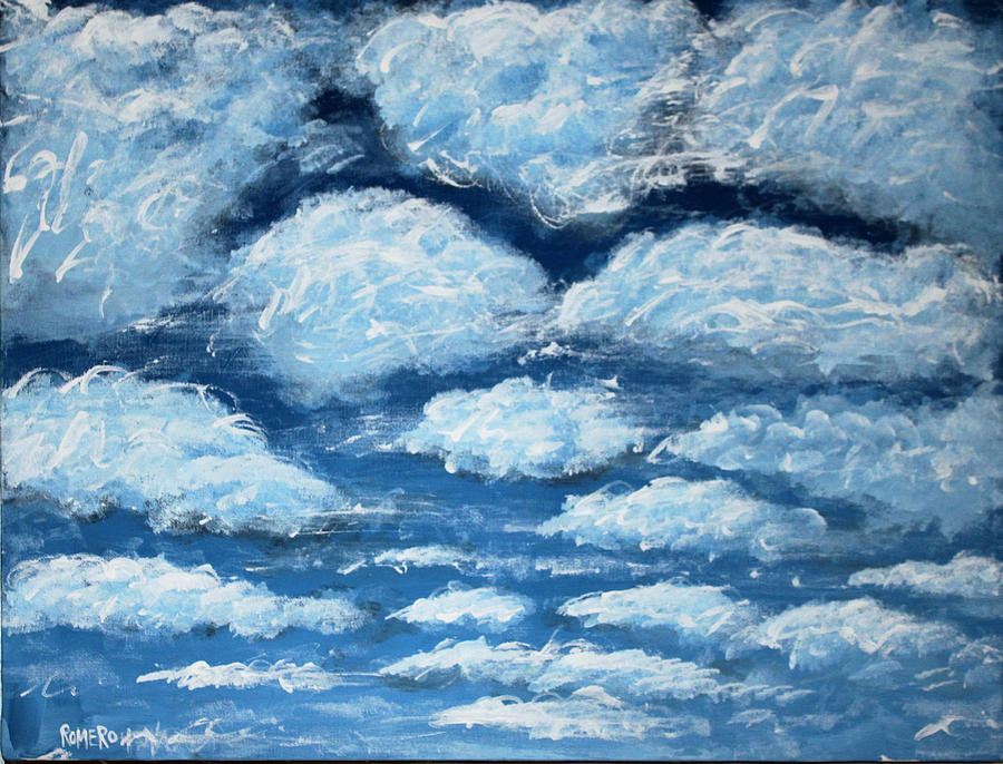Acrylic Painting - Clouds by Antonio Romero