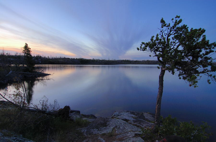 Bwcaw Photograph - Clouds At Sunset On Seagull Lake by Larry Ricker