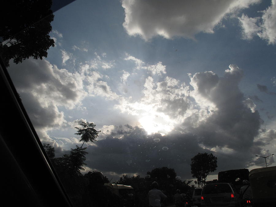 Dark Clouds Photograph - Clouds Buildup by Asha Sudhaker Shenoy