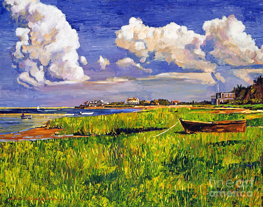 Plein Aire Painting - Clouds by David Lloyd Glover