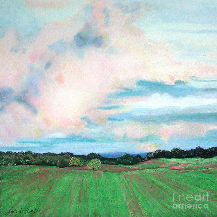 Landscape Painting - Clouds I by Lucinda  Hansen