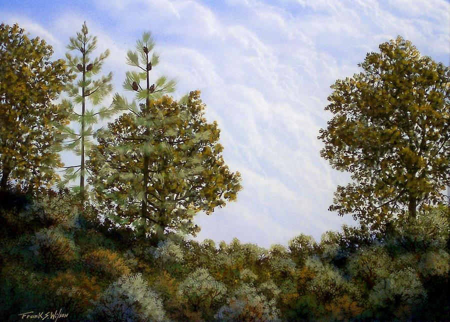 Landscape Painting - Clouds In Foothills by Frank Wilson