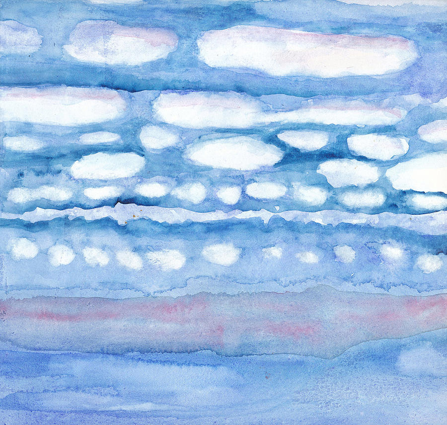 Watercolor Painting - Clouds In My Head by Linda Kay Thomas