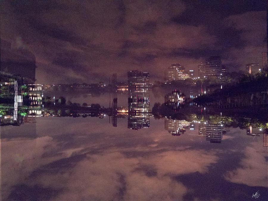 Clouds in the Passaic - Newark NJ by Leon deVose