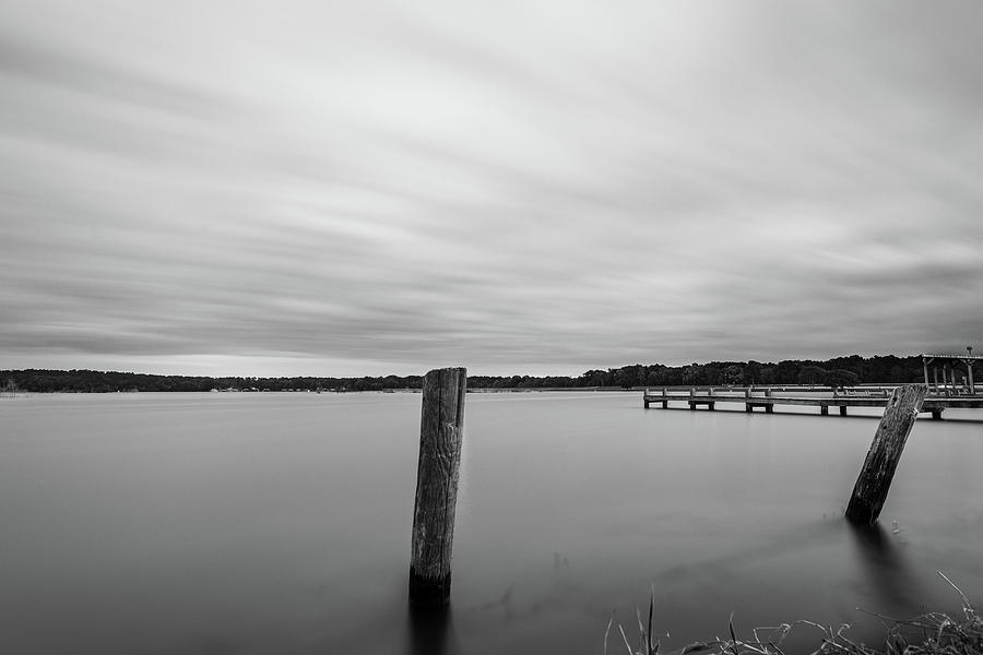 Clouds Moving Over Lake Long Exposure by Todd Aaron