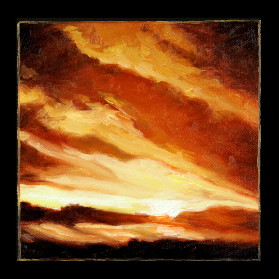 Sunet Painting - Clouds Number Nine by John Lautermilch