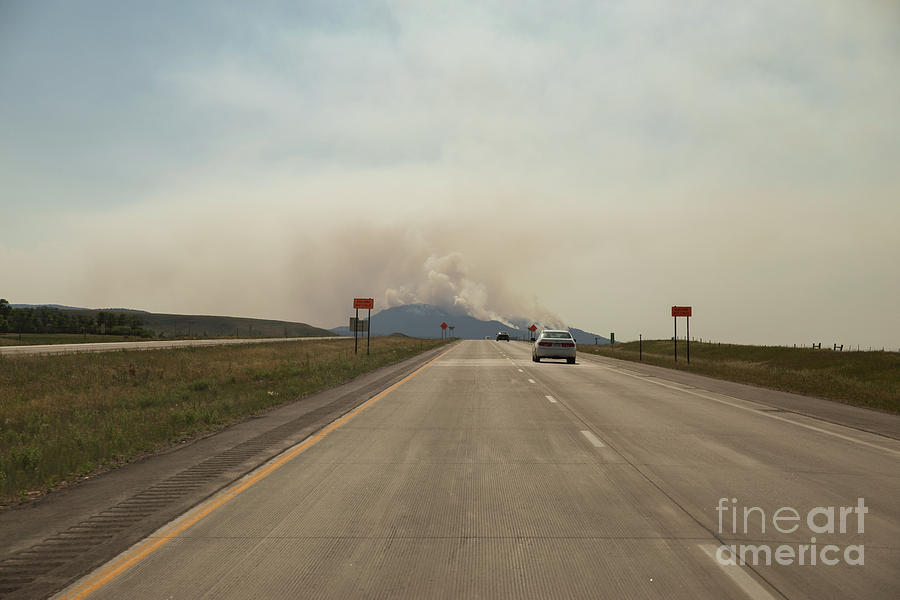 Spearfish Photograph - Clouds Of Smoke Billowing Off Spearfish by Nikki Vig