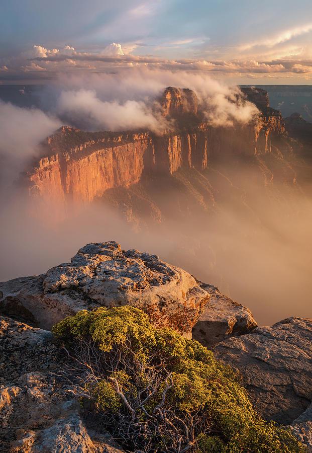 American Southwest Photograph - Clouds On Wotans Throne by Adam Schallau