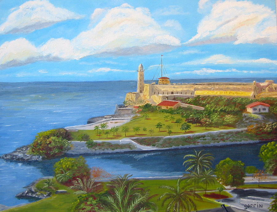 Landscape Painting - Clouds Over El Moro by Roger E Gorrin