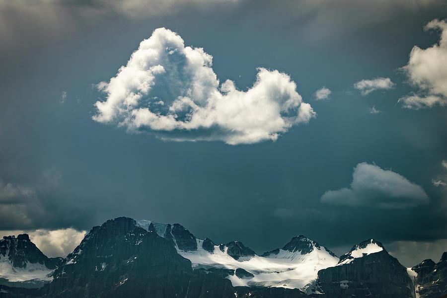 Clouds Over Glacier, Banff Np Photograph