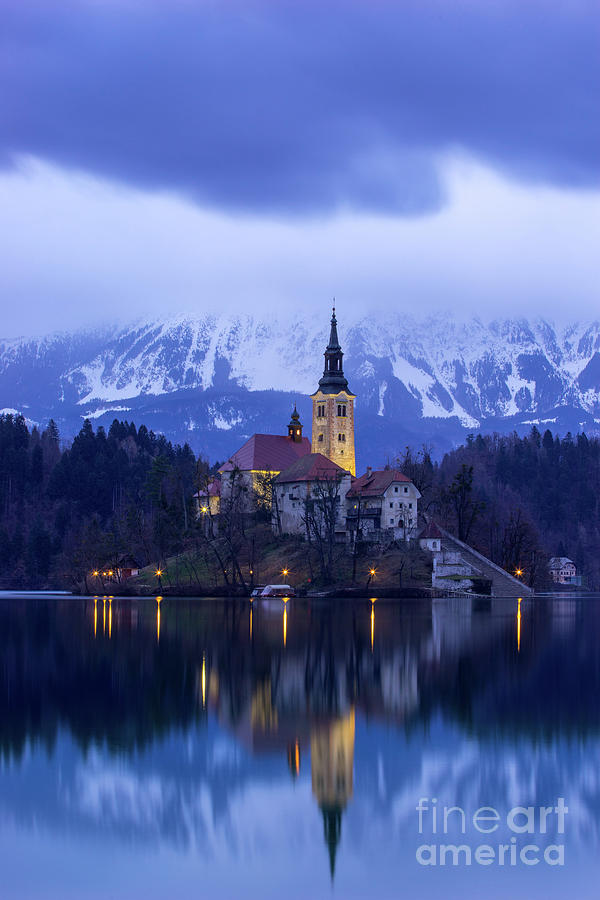 Bled Photograph - Clouds Over Lake Bled by Vyacheslav Isaev