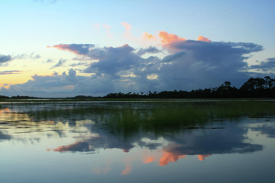 Clouds Over Marsh by Patricia Schaefer