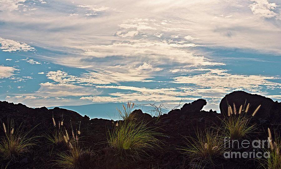 Hawaiian Landscape Photograph - Clouds Over Mauna Kea by Bette Phelan