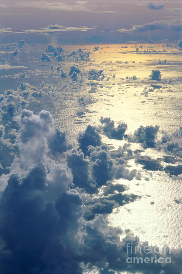 Aerial Photograph - Clouds Over Ocean by Ed Robinson - Printscapes