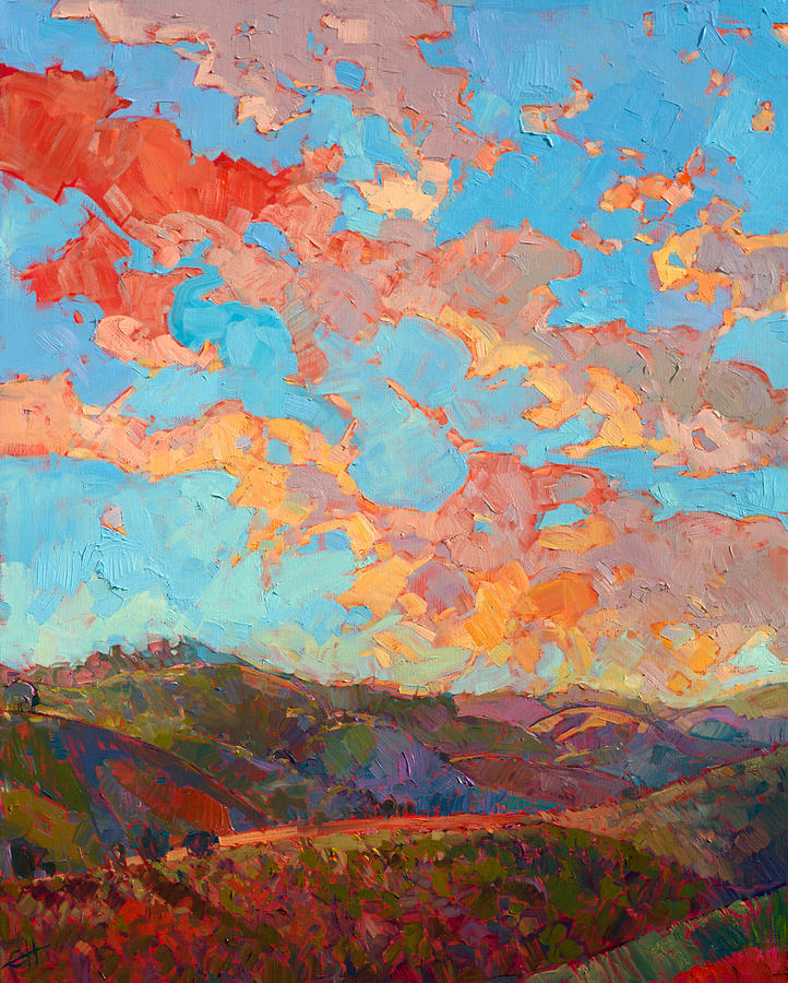 Wine Country Painting - Clouds over Paso by Erin Hanson