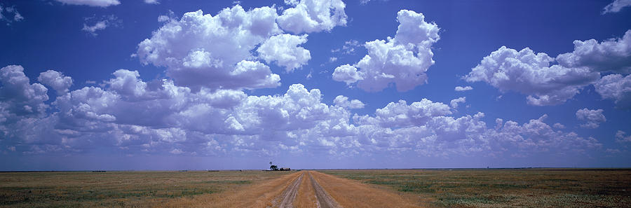 Color Image Photograph - Clouds Over Prairie Amarillo Tx by Panoramic Images