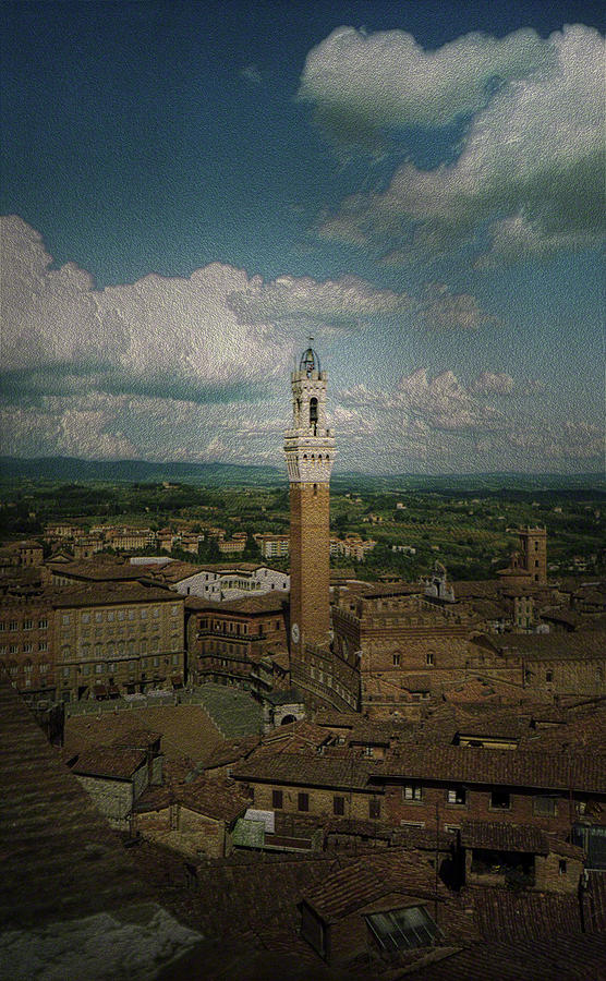 Clouds Over Siena by Maria Reverberi