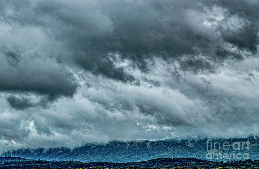 Clouds Photograph - Clouds Over The Mountans 1329tmt by Doug Berry