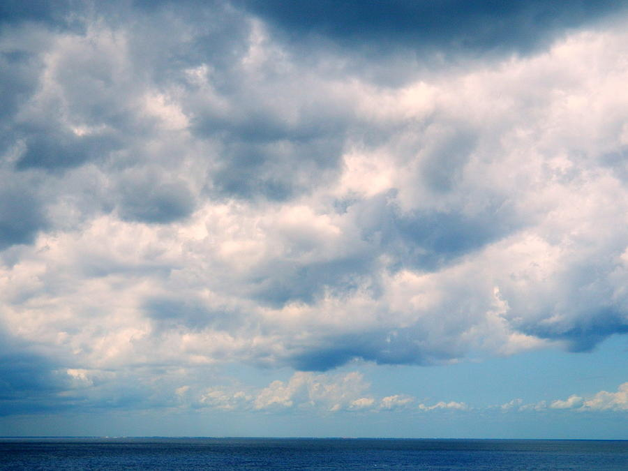 Sky Photograph - Clouds Over The Sea by Arlane Crump