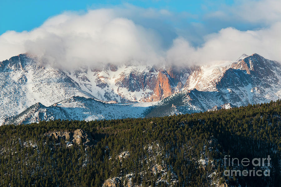 Clouds Receding On Pikes Peak Photograph