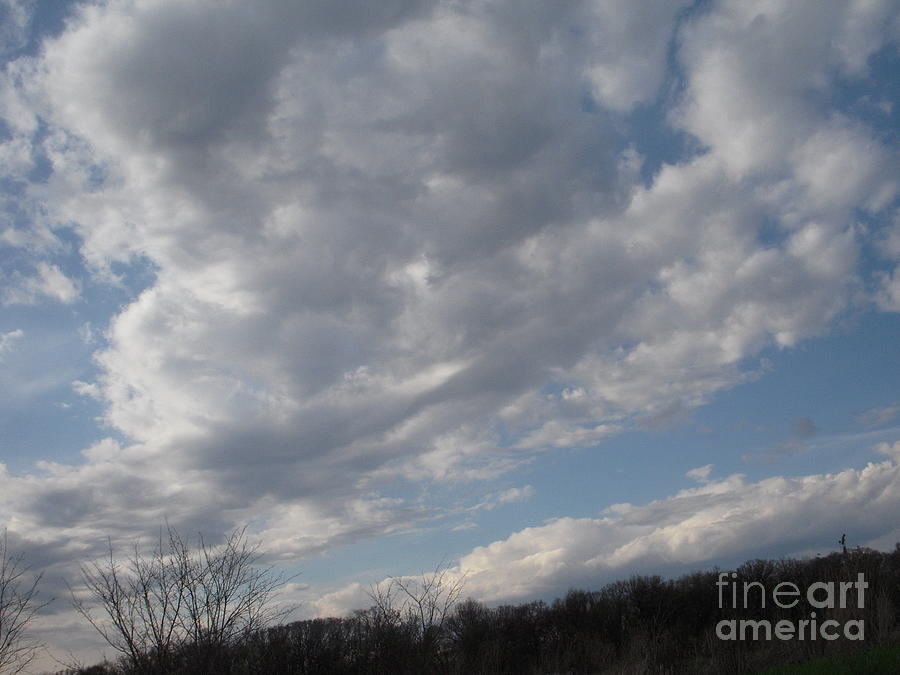 Clouds Photograph - Clouds Rolling Back by Deborah Finley