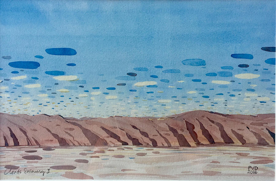 Clouds Painting - Clouds Swimming by Vaughan Davies