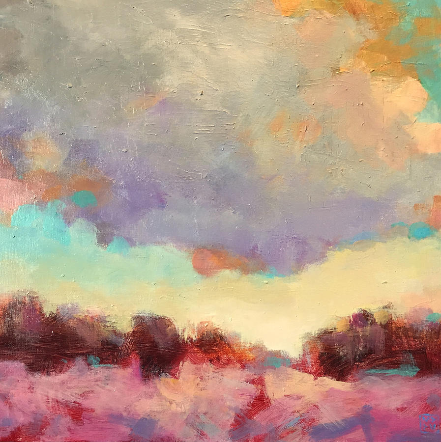 Landscape Painting - Cloudspangle by Mary Brooking